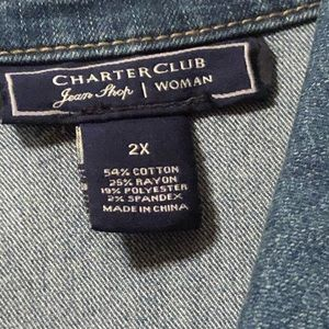 Never worn Charter Club Jean jacket from Macy's
